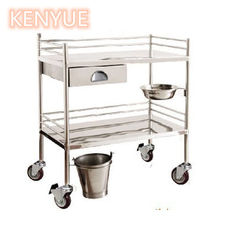 China Stainless Medical Trolley Cart With Drawer , Icu Emergency Trolley supplier