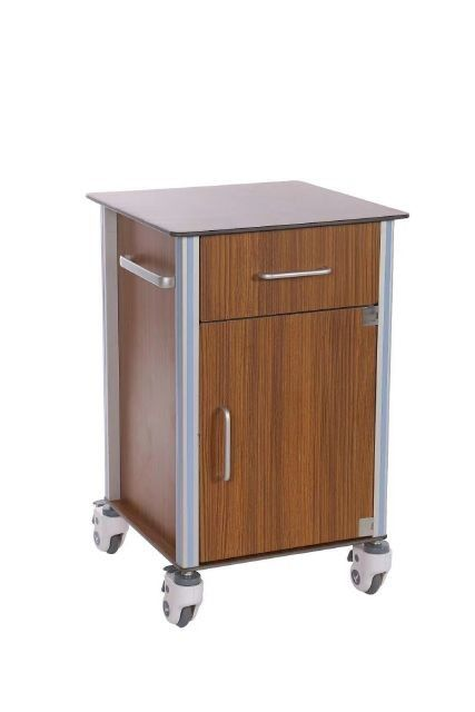 Wood Fiberboard Movable Hospital Bedside Locker