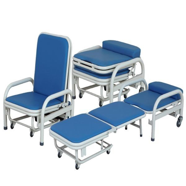 Multifunction Folding 250KG 3cm Accompanying Hospital Chair Bed