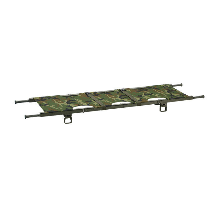 Hospital Aluminum Alloy 160Kgs Ambulance Emergency Folding Stretcher