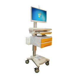 Integrated Computer Workstation Trolley With Working Table Height 750-1050mm