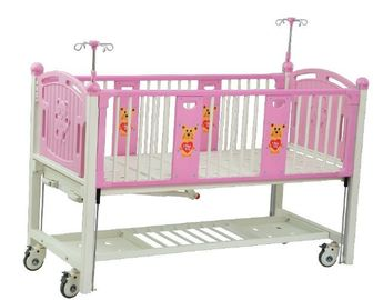 Manual Hospital Baby Crib Portable For Child Steel Structure 1880*900*1210mm