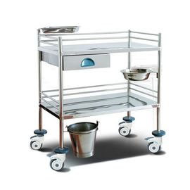 Surgical Instrument Hospital Patient Trolley , Stainless Steel Medical Equipment Trolley
