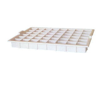 Plastic Hospital Bed Attachments Medicine Tray With 48 Case Box 513*360*50mm