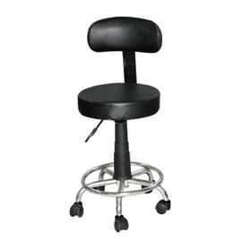Black PA Plastic Dental Doctor Stool , Nylon Casters Leather Dental Assistant Stool