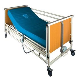 Cold Rolling Steel Structure Automatic Patient Bed , Wood Medical Adjustable Bed