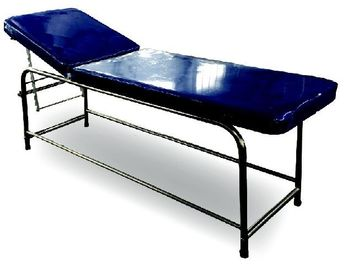 China Stainless Steel Medical Examination Couch Blue Color Legs Fitted With PVC Stumps factory