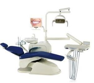 China Hot Sales Optional Dentist Chair Controlled Integral Dental Unit Dental Chair With Monitor factory