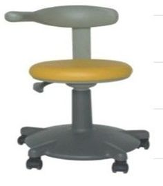 China Height 450mm - 570mm Dental Chair Equipment Assistant Stool Plastic Backrest And Armrest factory