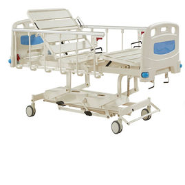 China Durable Long Life Manual Hospital Bed Five Functions , Hydraulic Care Bed Nursing Care Bed factory