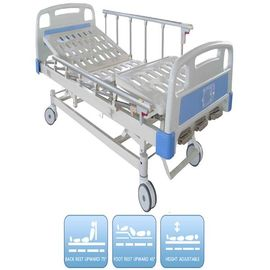 China Three Functions Pediatric Manual Hospital Bed CE certificate Aluminum Alloy Side Rails factory