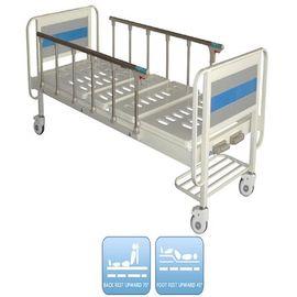 China Manual Hospital Bed High Strength Hospital Folding Bed With Aluminum Side Rails factory