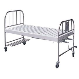 Common Nonelectric Hospital Nursing Bed Stainless Steel Head Panel And Side Rails