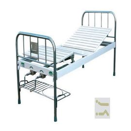 Medical Use Manual Hospital Bed Two Cranks Without Castors And Side Rails