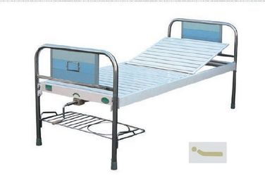 Multi Places Use Manual Hospital Bed , Manual Adjustable Bed With One Crank SS Frame