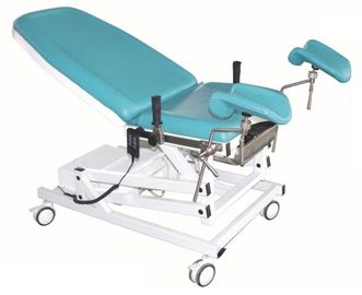 Two Mattress Section Obstetric Hospital Delivery Bed With Brake And 5 Inch Castors
